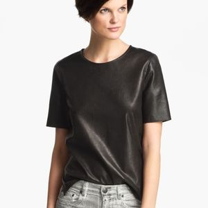 Vince leather top size L NEW